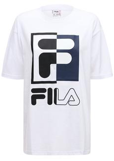 Fila Logo Print Cotton T-shirt
