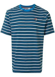 Fila striped logo-patch T-shirt