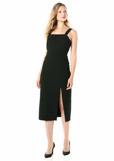 findersKEEPERS Women's Palermo Sleeveless MIDI Sheath Dress with Slit  m