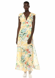 findersKEEPERS Women's Paradise Floral Long Maxi Dress with Slit  l