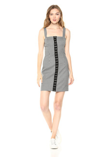findersKEEPERS Women's Surrender Sleeveless Hook and Eye Detail Mini Dress  M