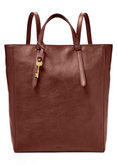 Fossil Camilla Convertible Large Leather Backpack