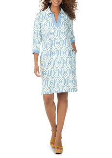 Foxcroft Angel Geo Print Jersey Shirtdress