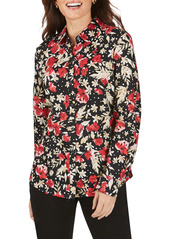 Foxcroft Ava Festive Floral Wrinkle-Free Shirt (Regular & Petite)