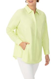 Foxcroft Cicil Non-Iron Button-Up Tunic (Plus Size)