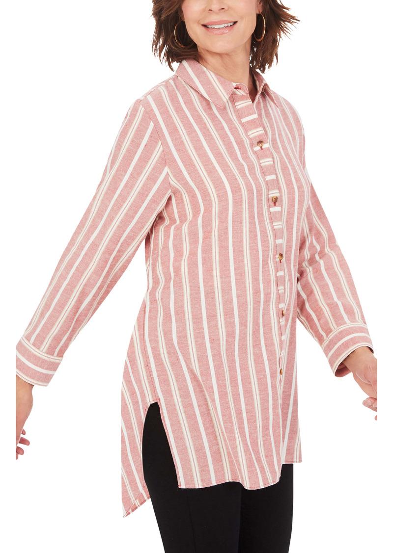 Foxcroft Edison Stripe Tunic Shirt