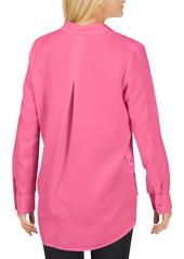 Foxcroft Ember Button-Up Tunic Shirt