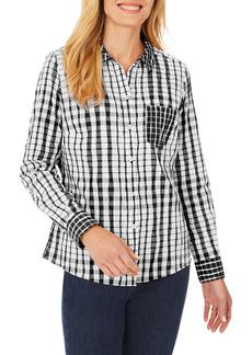 Foxcroft Hampton Crinkle Plaid Shirt