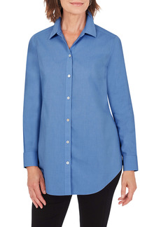 Foxcroft Joplin Cotton Button-Up Tunic