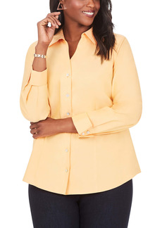 Foxcroft Lauren Non-Iron Pinpoint Button-Up Shirt (Plus Size)