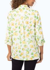Foxcroft Lemon Luv Cotton Sateen Button-Up Shirt