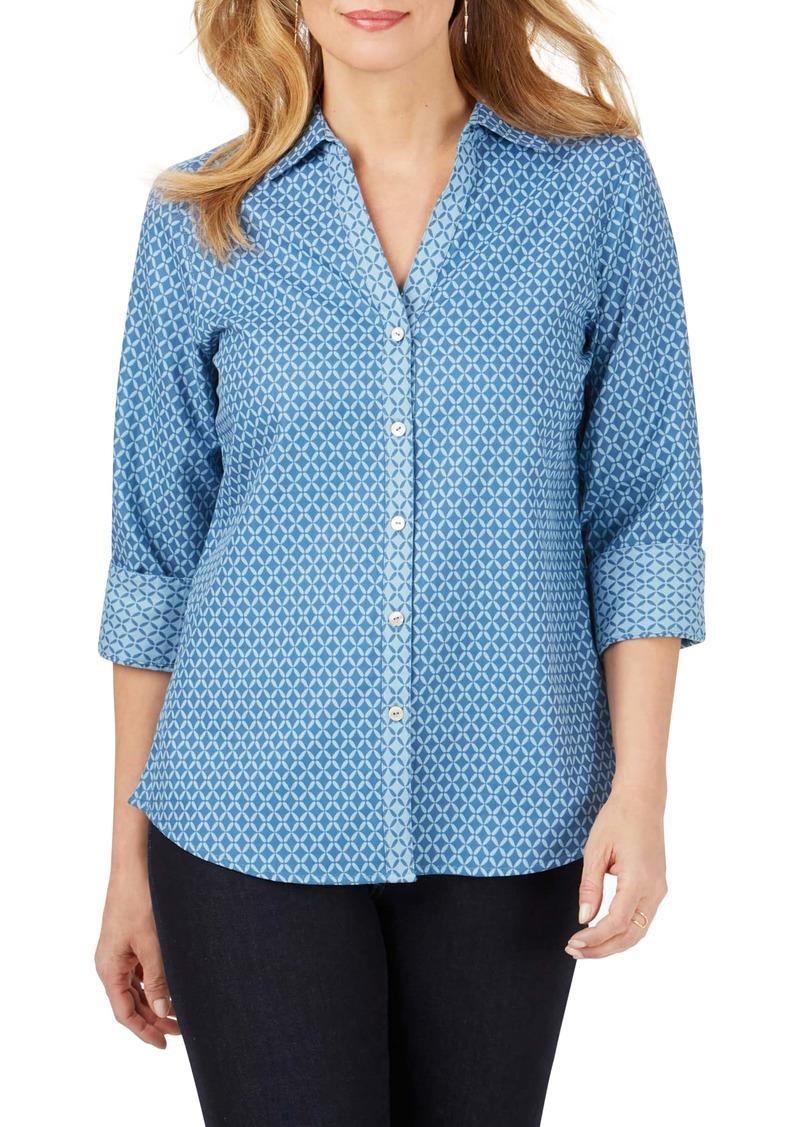 Foxcroft Mary Geo Print Shirt