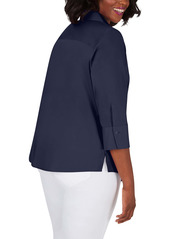 Foxcroft Mary Non-Iron Button-Up Blouse (Plus Size)