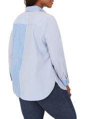 Foxcroft Maven Mix & Match Stripe Button-Up Shirt (Plus Size)