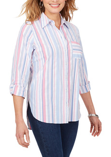 Foxcroft Millie Non-Iron Seersucker Tunic (Regular & Petite)