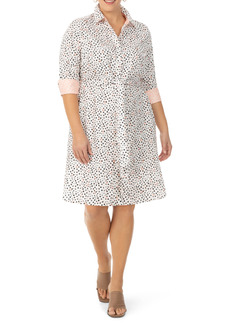 Foxcroft Modern Dots Shirtdress (Plus Size)