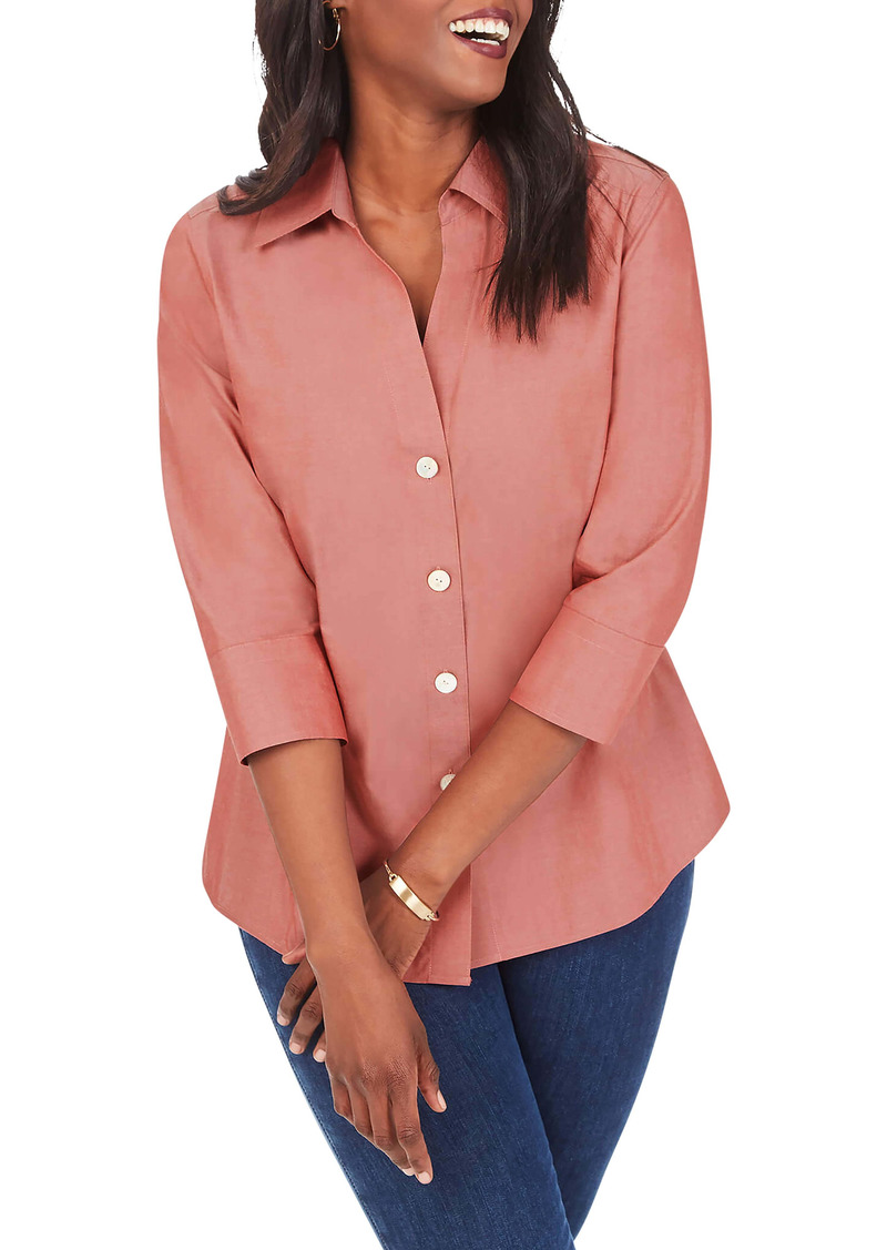 Foxcroft Paige Button-Up Shirt (Plus Size)