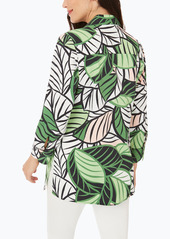 Foxcroft Palmer Leaf Print Shirt