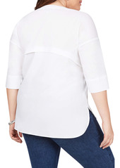 Foxcroft Roman Stretch Tunic Top (Plus Size)