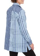 Foxcroft Santino Crinkle Plaid Tunic