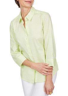 Foxcroft Sue Status Print Wrinkle Free Shirt