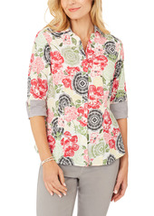 Foxcroft Taylor Wrinkle-Free Cotton Shirt (Regular & Petite)