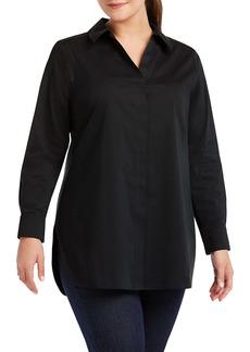 Foxcroft Vera Non-Iron Button-Up Tunic (Plus Size)