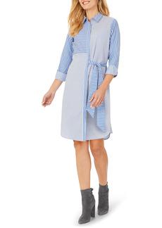 Foxcroft Warner Mixed Stripe Shirtdress