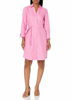 Foxcroft Women's 3/4 Sleeve Taylor Shirt Dress Essential Non Iron