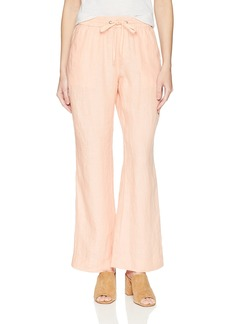 Foxcroft Women's Solid Chambray Linen Pant