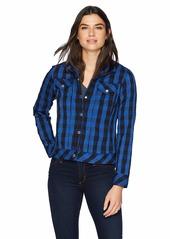 Foxcroft Women's Tina Buffalo Crinkle Check Jacket