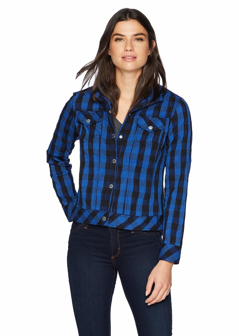 Foxcroft Women's Tina Buffalo Crinkle Check Jacket