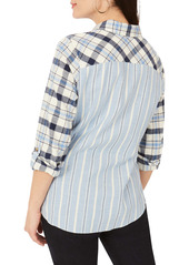 Foxcroft Zoey Mixed Print Brushed Cotton Shirt