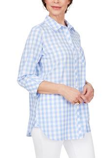 Petite Women's Foxcroft Germaine Gingham Cotton Blouse