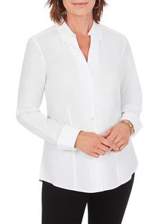 Petite Women's Foxcroft Lauren Non-Iron Button-Up Shirt