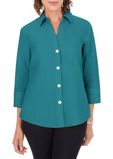 Petite Women's Foxcroft Paityn Non-Iron Cotton Shirt