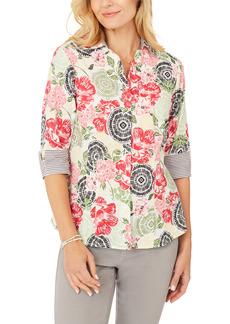 Petite Women's Foxcroft Taylor Wrinkle-Free Cotton Shirt