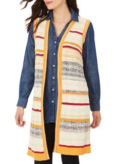Women's Foxcroft Nico Stripe Long Vest
