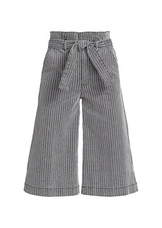 FRAME Belted Pleated Culottes