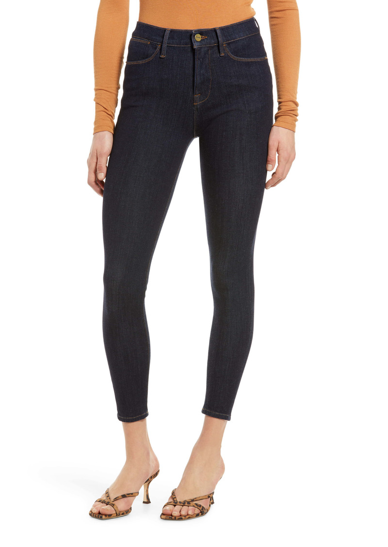 FRAME 24-Hour High Waist Crop Skinny Jeans (Henning)