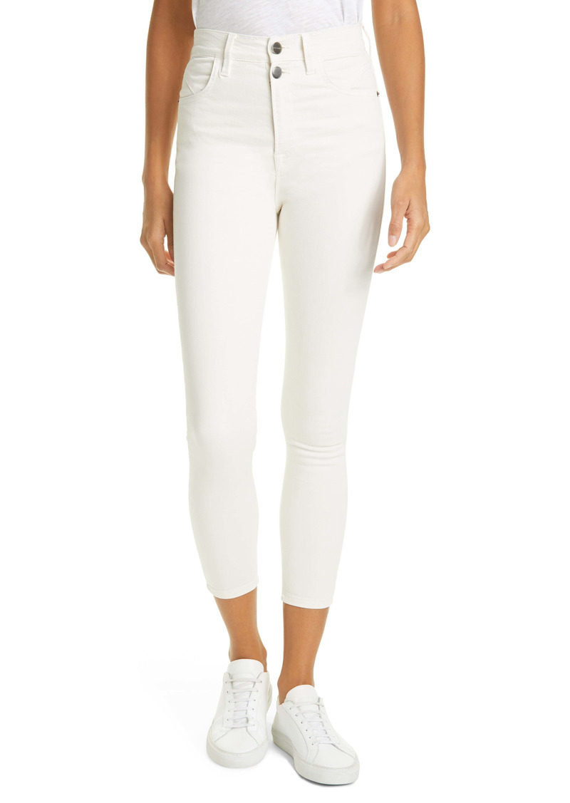 FRAME Ali High Waist Crop Skinny Jeans (Vintage White)