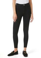 FRAME Ali Super High Waist Ankle Skinny Jeans (Noir)