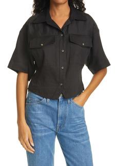 FRAME Arie Short Sleeve Button-Up Shirt
