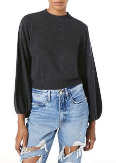 FRAME Balloon Sleeve Cashmere Sweater