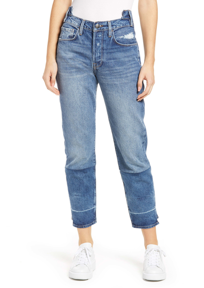 FRAME Cloud Collection Le Original High Waist Distressed Ankle Jeans (Aviation)