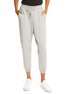 FRAME Easy Organic Pima Cotton Crop Sweatpants