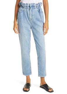 FRAME Elastic High Waist Ankle Straight Leg Jeans (Meridian)