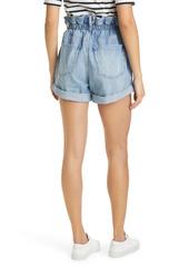FRAME Elastic High Waist Denim Shorts (Meridian)