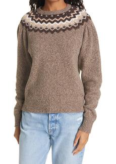 FRAME Fair Isle Merino Wool & Cashmere Blend Sweater