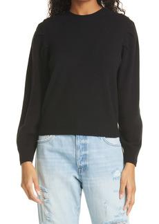 FRAME Finn Puff Sleeve Cashmere Sweater